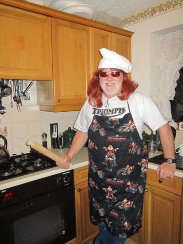 Hairy Bike Chef in Kitchen